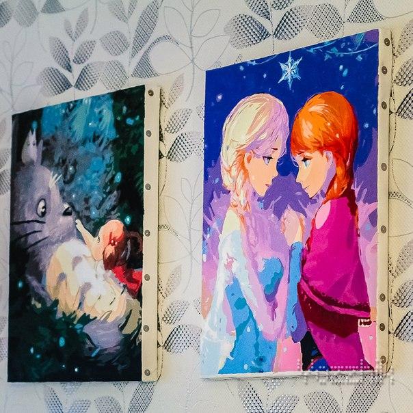 КАРТИНА ДЛЯ РАСКРАШИВАНИЯ ПО НОМЕРАМ ELZA и ANNA 40*50 см🖌