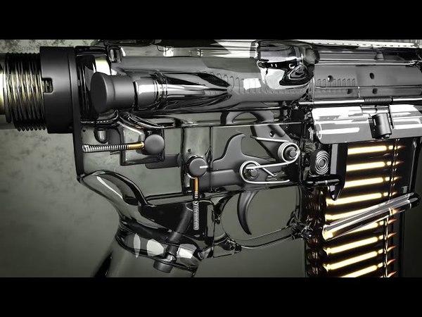 Путь пули штурмовой винтовки: от магазина до пламегасителя КРАСИВОЕ ВИДЕО
