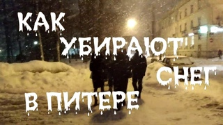 Минутка вандализма. Как путинская клизма сбеглов и его таджики, убирают снег в Ленинграде!