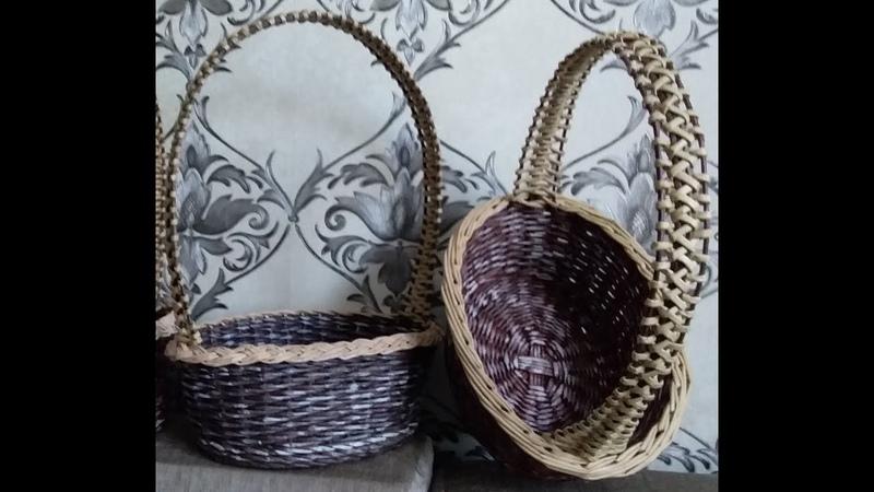 Плетение подарочной или пасхальной корзинки.Как снизить затраты.