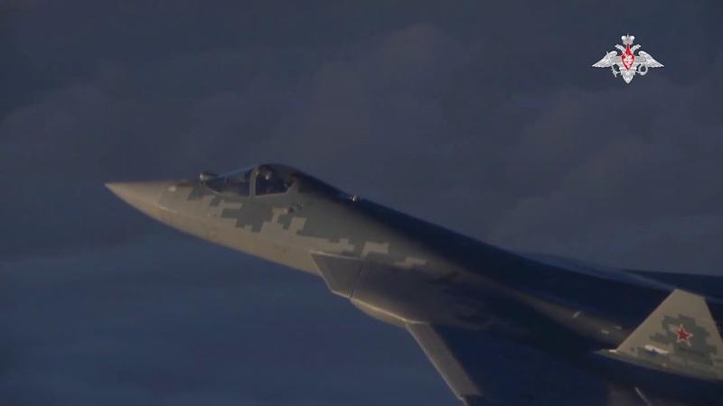 Уникальные кадры боевой работы перспективных авиационных комплексов Су 57 в Сирии