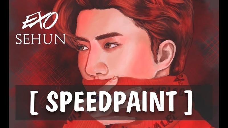 SPEEDPAINT Drawing SEHUN EXO in Photoshop Рисуем Сехуна в Фотошопе