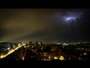 Гроза над Волгоградом в ночь со 2 на 3 июля 2018 г.