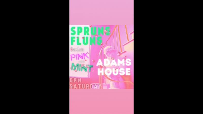 SPRUNG FLUNG PINK and/or MINT party at Adam's house, 28.04.2018