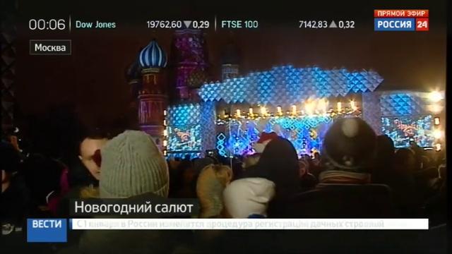 Новости на Россия 24 • Новый год встретили в Москве и Центральной России