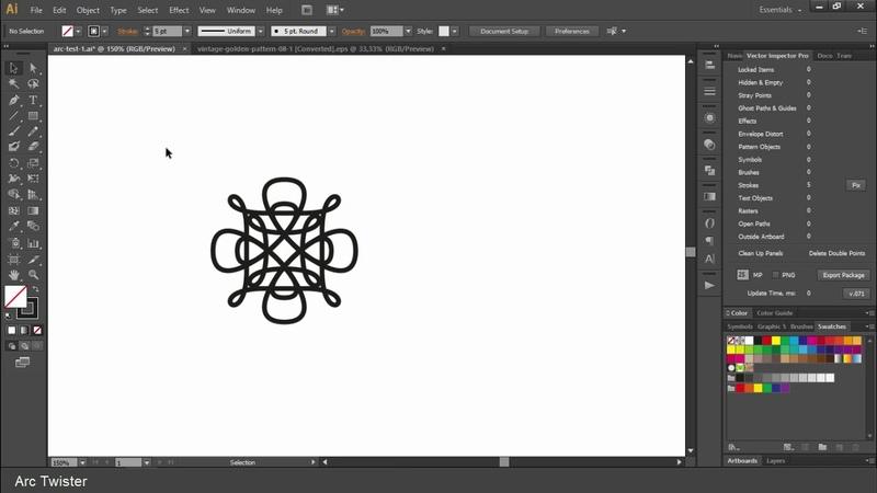 Как быстро делать узоры в Adobe Illustrator скриптом Arc Twister