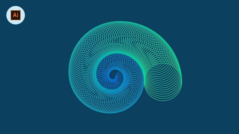 Illustrator Spiral Vector Art {MADE EASY}