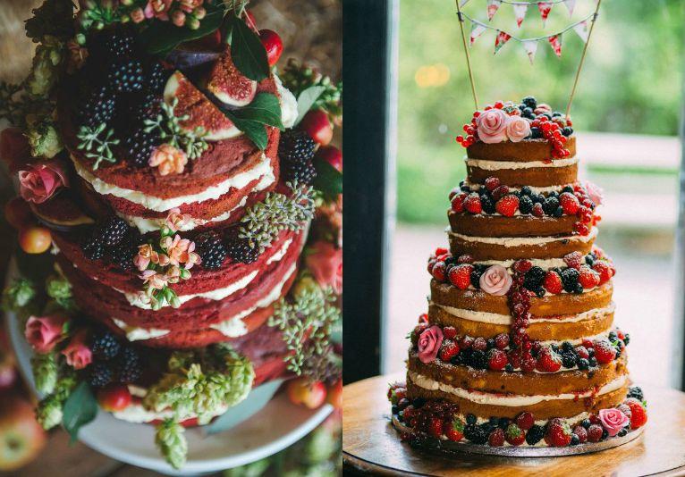 Как выбрать свадебный торт, начинка для свадебного торта, начинки для торта, начинки для свадебного торта, как украсить свадебный торт, свадебный торт, оформление свадебного торта, торты с тропическими фруктами, современный свадебные торты, украшение тортов фруктами, торты с открытыми коржами