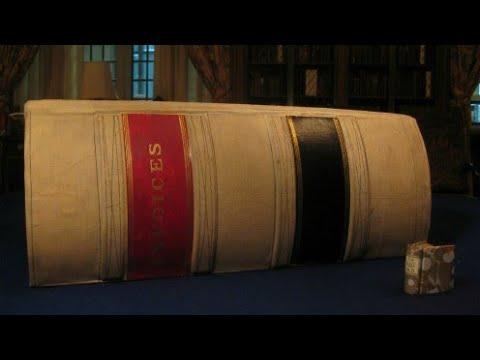 😮اكتشف الكتاب الذي استغرق سنين لكتابته ....أكبر كتاب يمكن ان تراه عينك ...