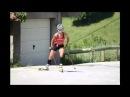 Victoria Padial biathlon training