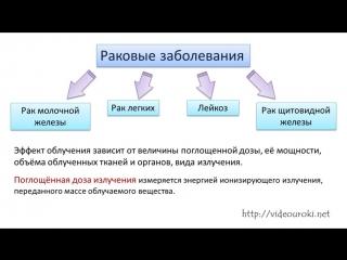 61. Влияние радиоактивных излучений на живые организмы