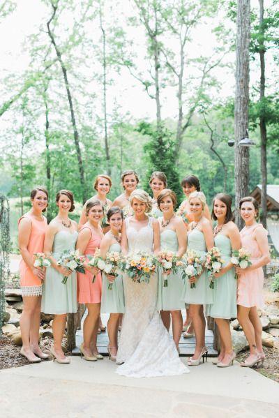 Нежная пастельная палитра - прекрасный вариант для подружек невесты.