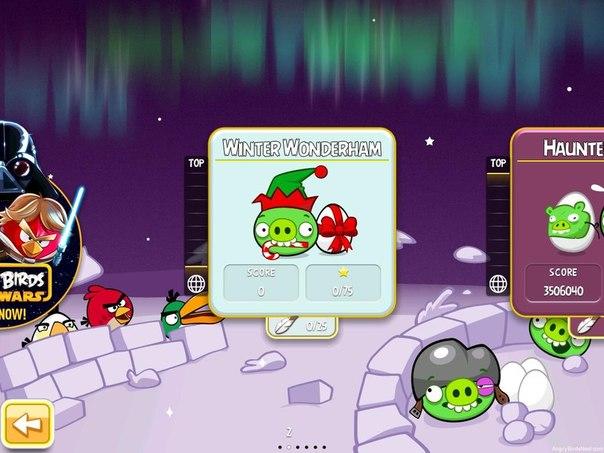 Скачать Angry Birds Seasons: Winter Wonderham! для android