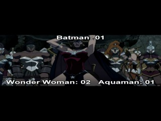 Justice League: The Flashpoint Paradox (2013) Wonder Woman, Aquaman & Batman Kill Count