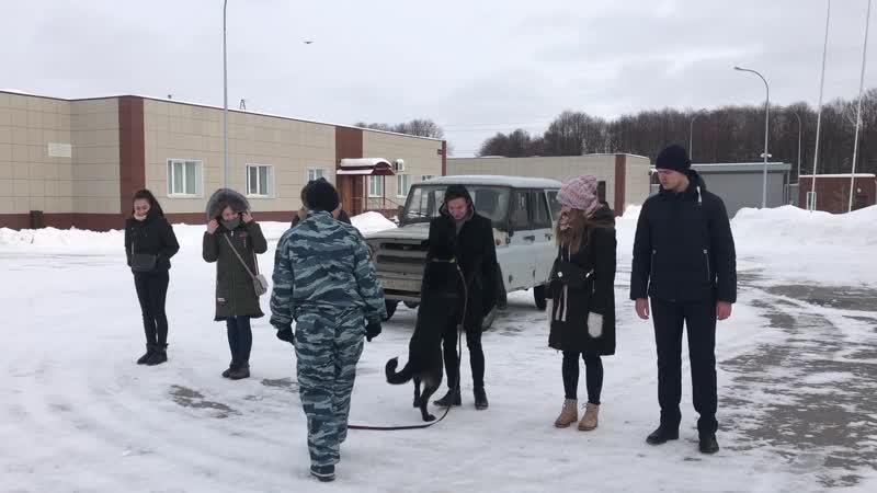 Студенты РГУ имени С.А. Есенина в гостях у полицейских-кинологов