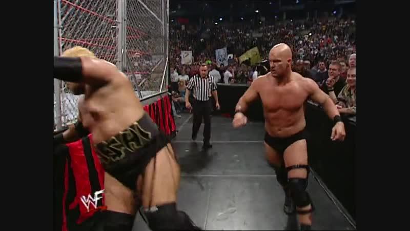 Steve Austin Vs Rikishi - Steel Cage Match - RAW 30.10.2000