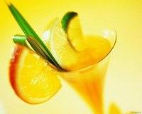"""Коктейль с имбирем  """"Бананово-апельсиновый """".  Фотография рецепта."""