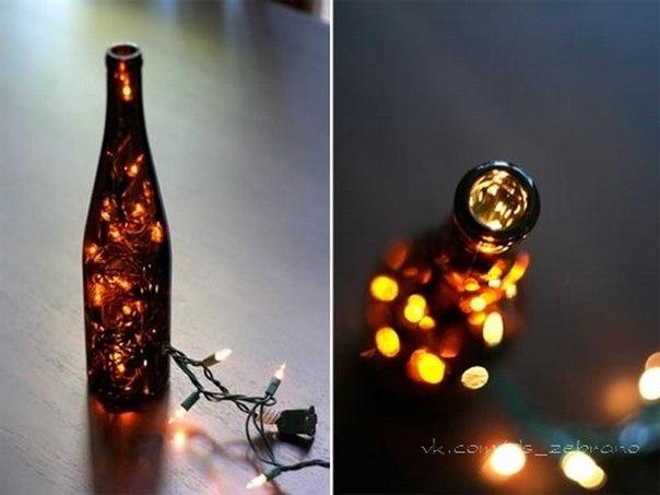 Ночники из бутылки своими руками 134