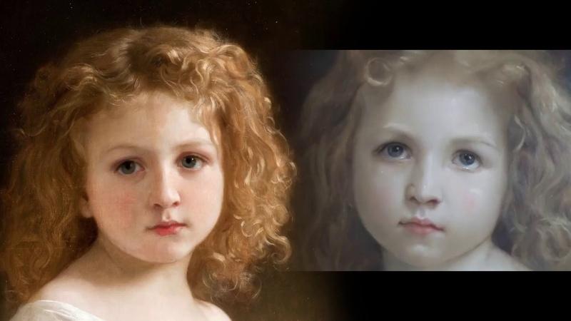 Как написать портрет. Этюд Девочка с книгой William Adolphe Bouguereau