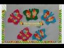 Borboleta em crochê imã de geladeira aplicação em panos de pratos ou toalhas