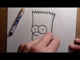 Как нарисовать Барта Симпсона? [HD]