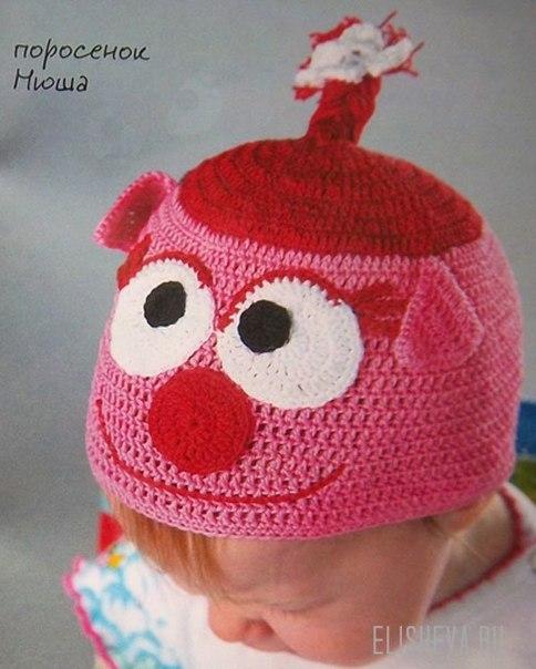 Детская шапочка Поросенок Нюша