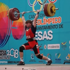 """Mash Elite Performance on Instagram: """"14-year-old @mad_lifts_15 with his Gold Medal Clean & Jerk of 163kg/358lb to take Gold ove"""