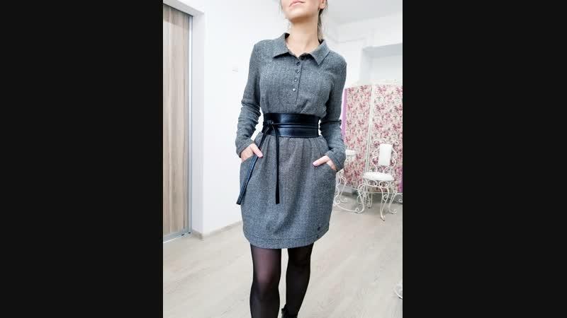 Платье Поло шерстяное