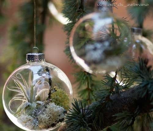 Декор прозрачных шаров