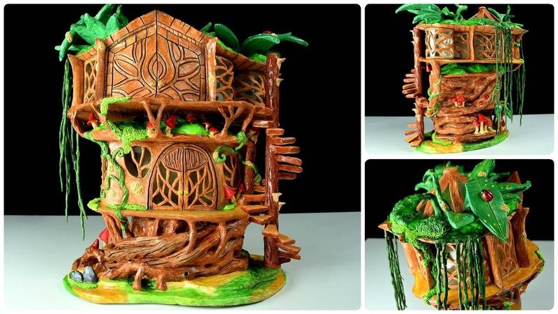 ♡ DIY Fairy Tree House DAS Paper Clay Fairy House ♡