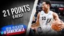 DeMar DeRozan Full Highlights 2019.03.16 Spurs vs Blazers - 21 Pts, 8 Rebs! | FreeDawkins