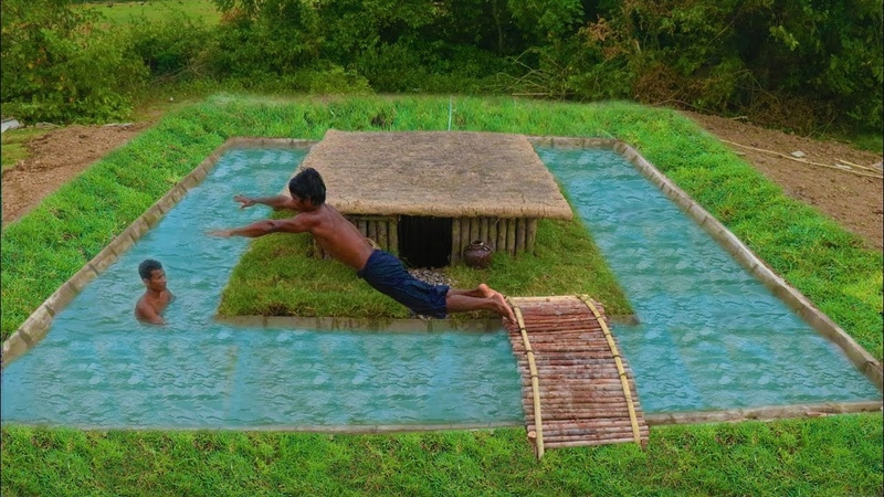 Unbelievable Build Swimming Pool Around Secret Underground House