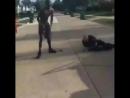 Попытка американского полицейского задержать бывшего борца. Как вы думаете что было дальше?