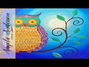Easy Owl Acrylic Painting Beginner Tutorial Live Full Length Online Class Free Art Lesson