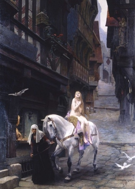 «Леди Годива», 1897 Согласно легенде, Годива была прекрасной женой графа Леофрика. Подданные графа страдали от непомерных налогов, и Годива упрашивала своего мужа снизить налоговый гнёт. Однажды