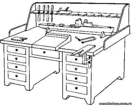 Сделать верстак в гараже своими руками чертеж размеры