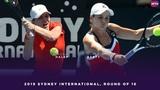 Simona Halep vs. Ashleigh Barty 2019 Sydney International Round of 16 WTA Highlights