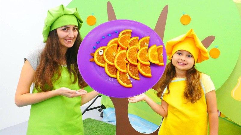 Sevcan ile portakal diliminden balık yap! Mini Mutfak
