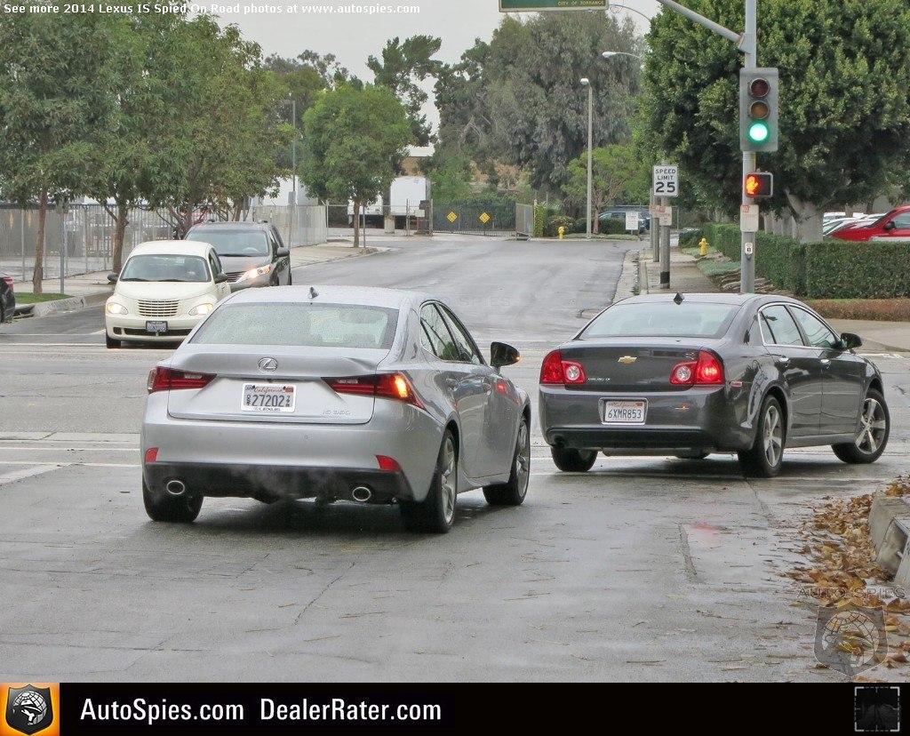 Lexus IS 2014 at California streets