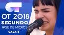 AUNQUE NO SEA CONMIGO NATALIA SEGUNDO PASE DE MICROS GALA 8 OT 2018