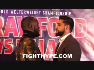 TERENCE CRAWFORD VS AMIR KHAN FACE TO FACE