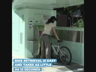This bicycle parking system fits neatly in your living space