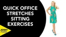 Быстрая офисная растяжка на работе сидя - Растяжка верхней части тела. Quick Office Stretches at Work Sitting/Seated 5 Minutes Upper Body Exercises
