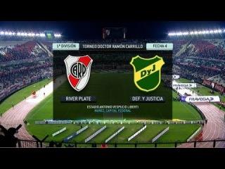 River Plate - Defensa y Justicia. Fecha 4. Torneo Primera División 2014. FPT