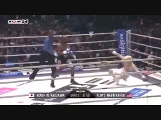 Флойд Мейвезер за раунд нокаутировал японскую звезду ММА Теншин Насукава