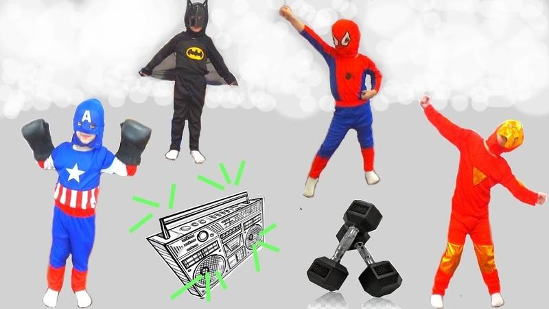 ТАНЦЫ СУПЕРГЕРОЕВ Человек Паук Бэтмен Капитан Америка Железный Человек флешмоб
