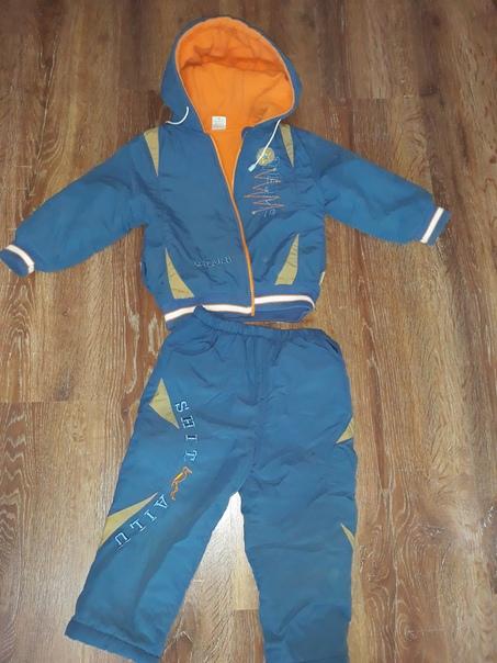 Продам утепленные флисом куртку и штаны  и полукомбинезон ,  на рост 86-92