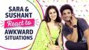 Sara Sushant React to Awkward Situations | Kedarnath | Bollywood | Pinkvilla