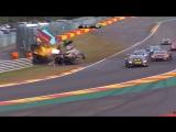 Lamborghini Super Trofeo Europe 2018. Race 2 Circuit de Spa-Francorchamps. Leader Huge Crash Red Flag