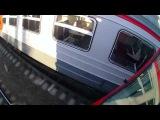 Чуваки зацеперы прыгают с крыши на крышу поезда (школьники)